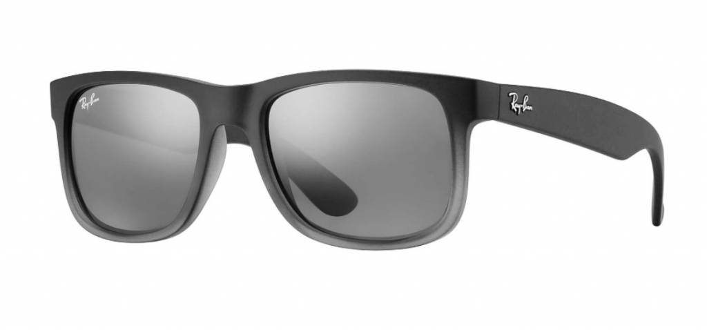 RAY BAN Ray Ban Justin Classic RB4165 852/88 55mm Grey / Silver Gradient  Mirror