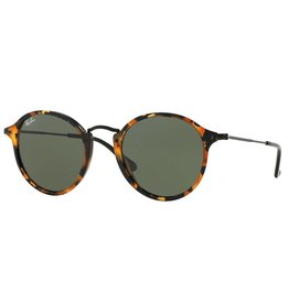 a367a19a35d RAY BAN Ray Ban Round Fleck RB2447 1157 49mm Tortoise Black   Green Classic  G-