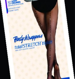 Body Wrappers Fishnet Rhinestone Seamed Tights A64