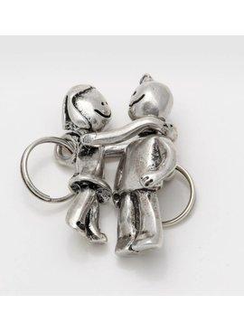 Uno de 50 Boy & Girl Key Ring-Uno de 50