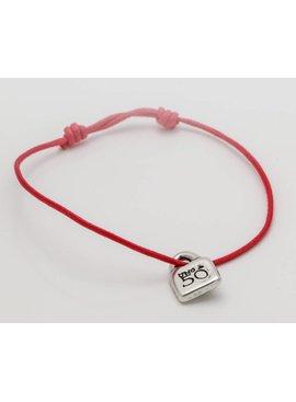 Uno de 50 Red Leather Bracelet - Uno de 50