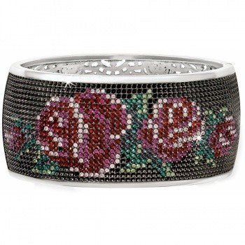 Victorian Rose Hinged Bangle - JF0443