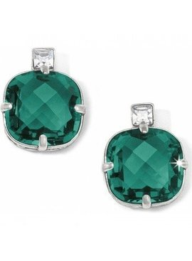 Lovable Post Earrings Emerald