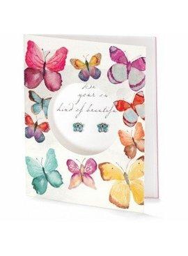 Pretty Petite Beautiful Card Earrings