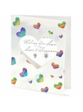Pretty Petite Luck Card Earrings