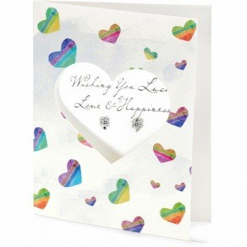 Pretty Petite Luck Card Earrings-JA1360