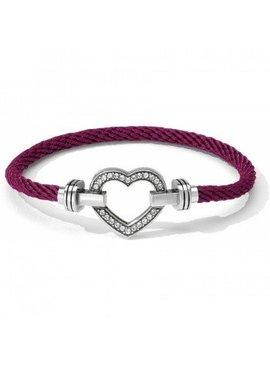 Color Clique Pave Heart Bracelet Set