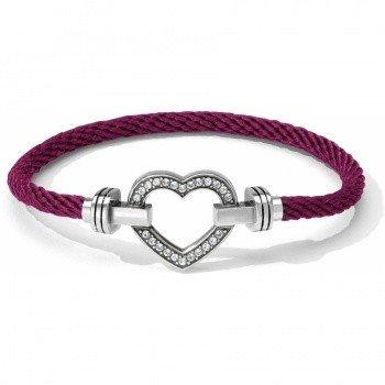 Color Clique Pave Heart Bracelet Set-JF1472