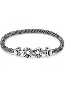 Color Clique Cord Infinity Bracelet Set