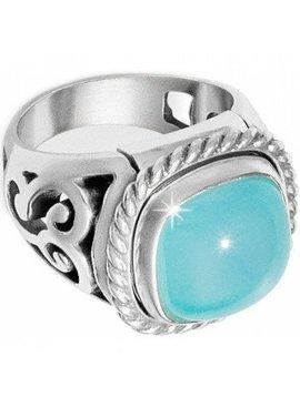 Color Clique Gem Scroll Ring Set