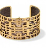 Christo Lyon Wide Cuff Bracelet Set-JF1623