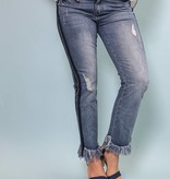 Denim Jeans With Fringe - DMP1492