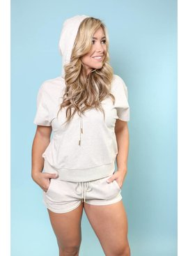 Short Sleeve Hooded Sweatshirt & Short Set