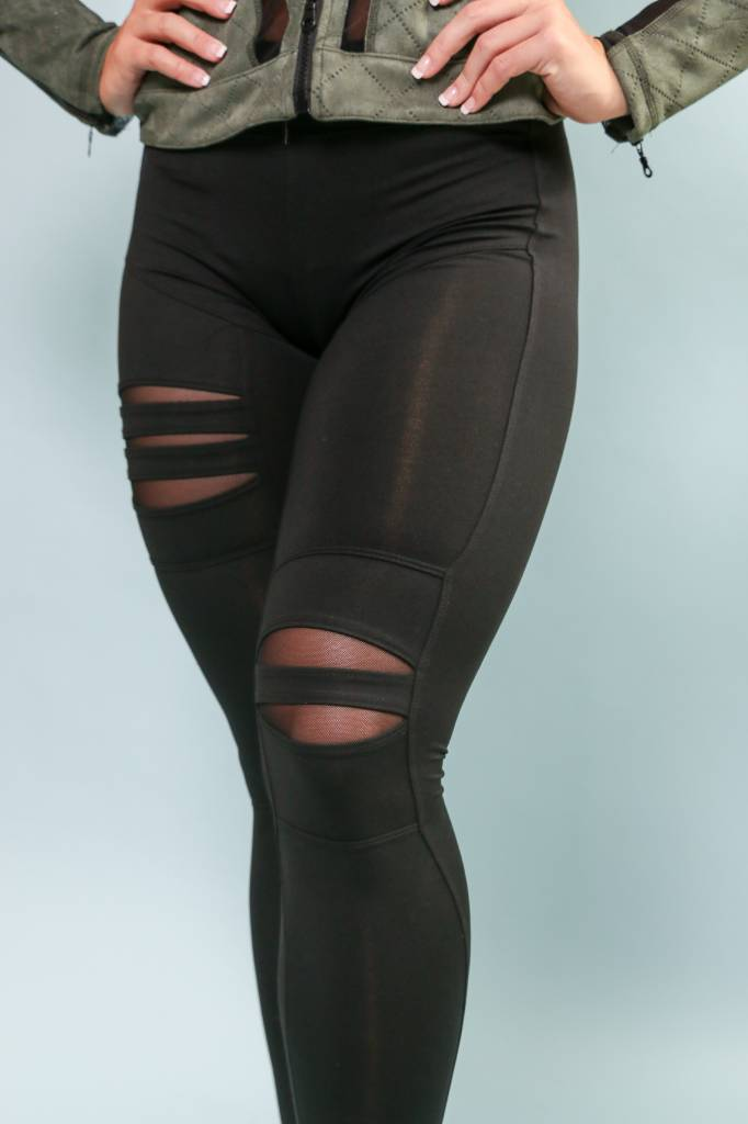 Signature 4 Way Stretch Torn Legging - L - 102 - S4W