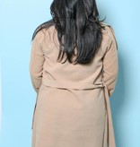 Oversize Belted Waterfall Coat Camel OS - CJK1020CML