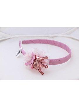 Pink Crown Head Band