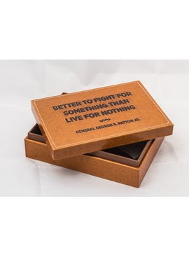Leather Box W/ Quote