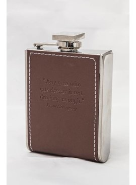 Leather Flask W/ Quotation