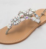 6571 - Clear Jeweled Sandals