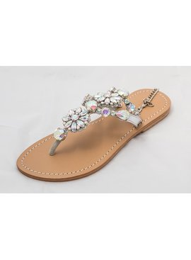 Clear Jeweled Sandals