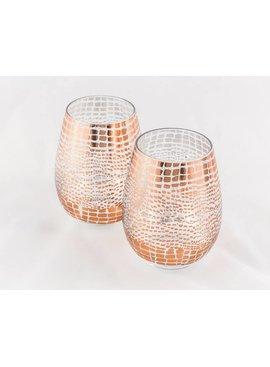 Stemless Wine Glass - Rose