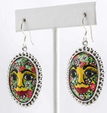 Earrings-SS / Floral Face