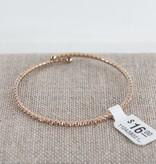 Theia Bangles 11043B0010-ChampagneCZBangleAntiqueGold