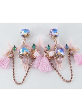 Earrings-AsstSteerHeadsW/Jewels&Tassels