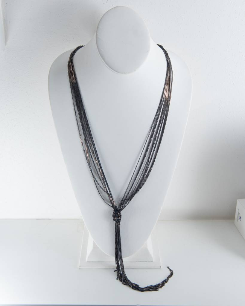 Theia Necklace 16100N0028-AnabellaKnottedLongStrandNecklaceNavy