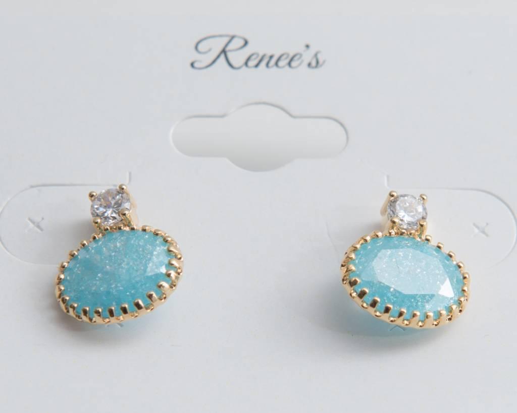 Theia Earrings 23525E0018-CZVintageGoldLabradorite