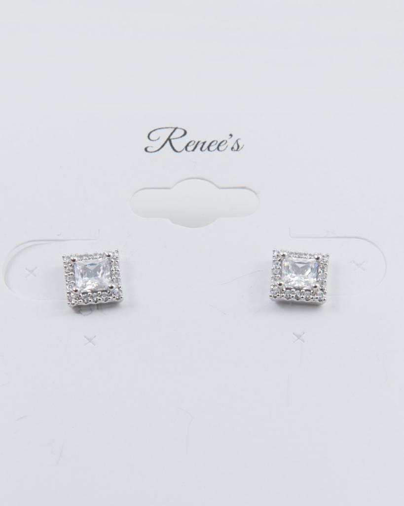Theia Earrings 28723E0018-HaloPrincessCZStudEarringsWhiteGold
