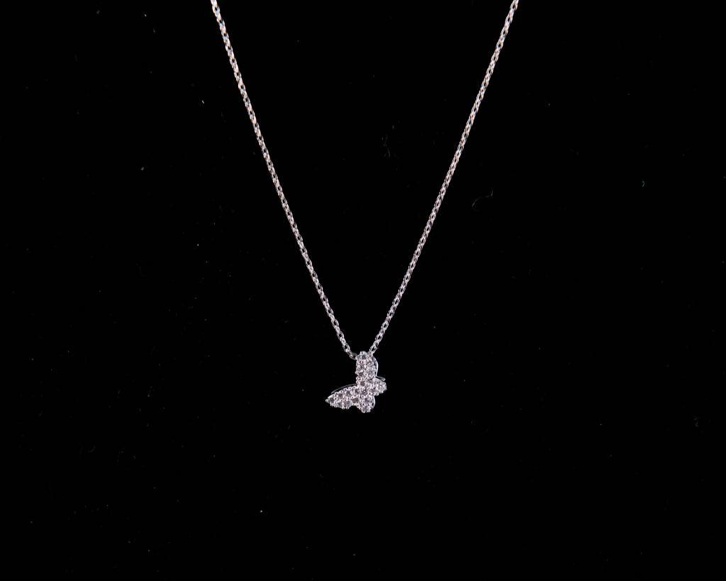 Theia Necklace 29138N0020-PapillionShortNecklaceCZWhiteGold