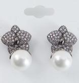 Theia Earrings 28935E0054-PlumeriaPearlDropEarringsGunMetal
