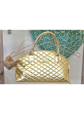 "Handbag IT5001GD-8x15""GoldQuiltedBag"