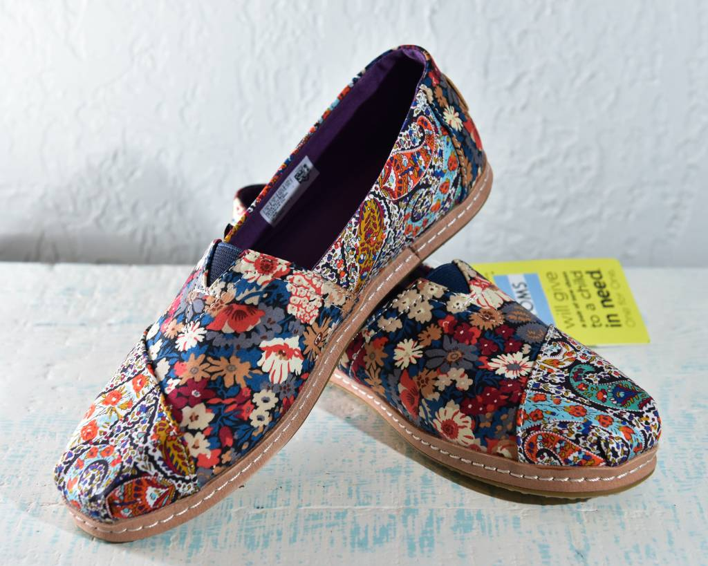 Toms Womens Shoes 10012494-WmClassicLibertyPaisley/Lthr
