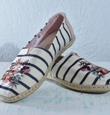 Toms Womens Shoes 10012638-WmClassicFloralEmbroideryWovenStripe