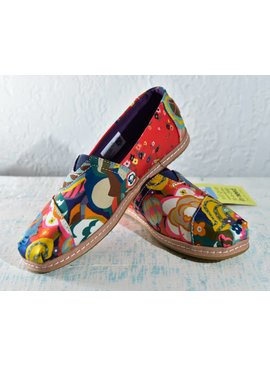Toms Womens Shoes 10012493-WmClassicLibertyGatsbyGarden/Lthr