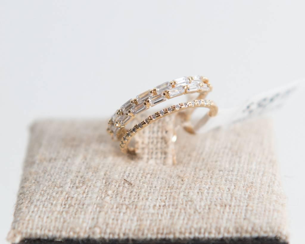 Theia Rings 29606R0028-OliviaDoubleBandAdjustRingCZGold