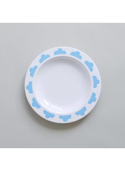 Buddy and Bear ASSIETTE NUAGE - BLEU