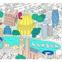 AFFICHE À COLORIER LONDON