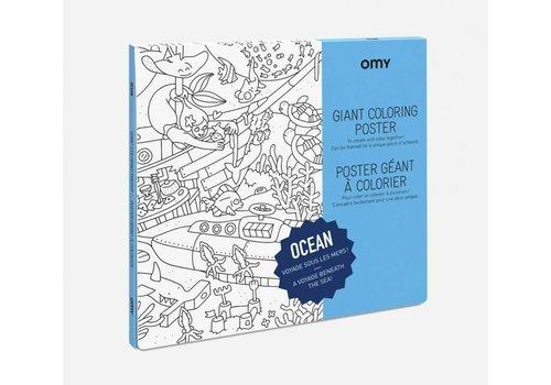 OMY AFFICHE À COLORIER OCEAN