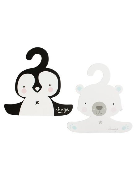 A Little Lovely Company ENS. DE 2 SUPPORTS - PINGOUIN/OURS POLAIRE