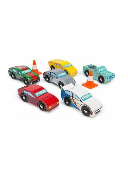 Le Toy Van ENS. DE 6 VOITURES SPORTS MONTECARLO