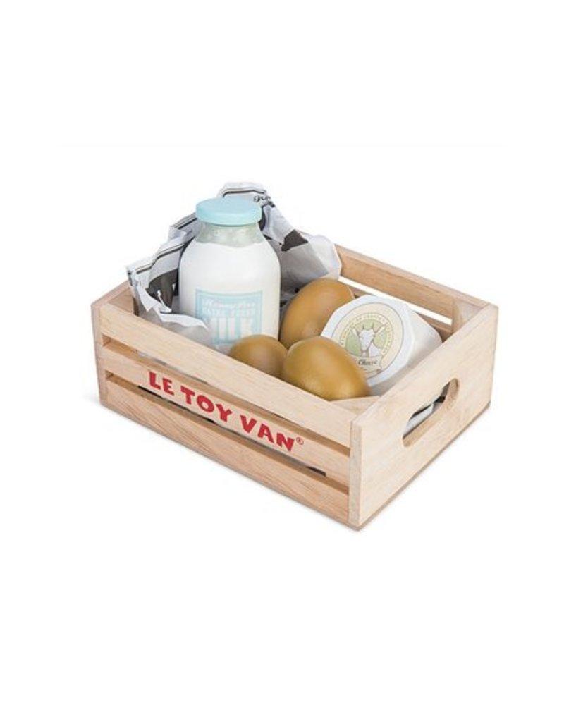Le Toy Van PANIER DU MARCHÉ - PRODUITS LAITIERS