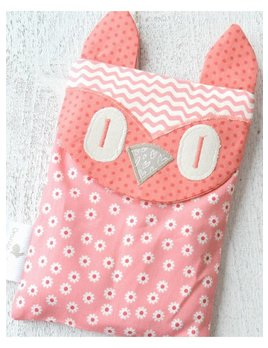 Orange & Coco SAC RÉCONFORT HIBOU - CORAIL