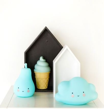 A Little Lovely Company MINI VEILLEUSE POIRE - BLEUE