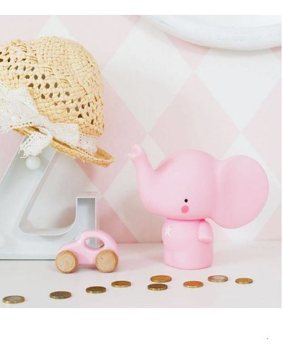 A Little Lovely Company TIRELIRE ELEPHANT - ROSE