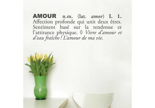 ADZIF AUTOCOLLANT MURAL - AMOUR