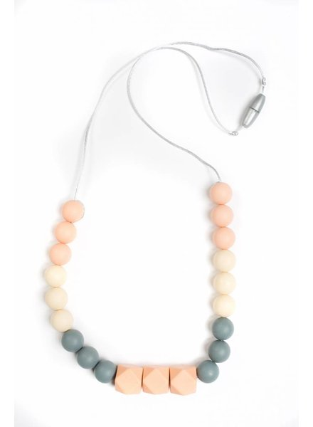 POIS&MOI COLLIER MAMAN - ROSE/GRIS/BEIGE