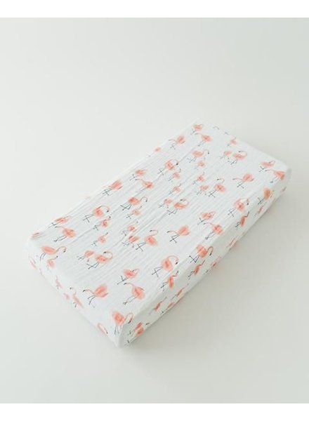 Little Unicorn HOUSSE MATELAS LANGER COTON - FLAMANTS ROSES
